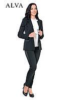 Красивый стильный брючный женский костюм 46-52, фото 1