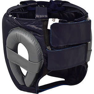 Боксерский шлем RDX Leather Pro Blue M, фото 2