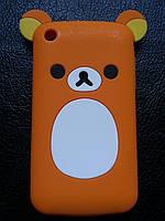 """Силиконовый чехол """"Оранжевый мишка Rilakkuma"""", фото 1"""