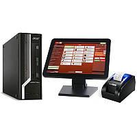"""Комплект POS-оборудования для кафе, ресторана: сенсорный монитор 15"""", системный блок, термопринтер +Программа"""