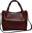 Женская бордовая сумка Michael Kors (28*32*13), фото 2