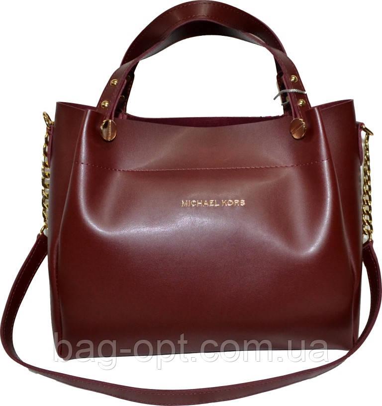 Женская бордовая сумка Michael Kors (28*32*13)