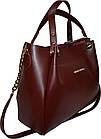 Женская бордовая сумка Michael Kors (28*32*13), фото 3
