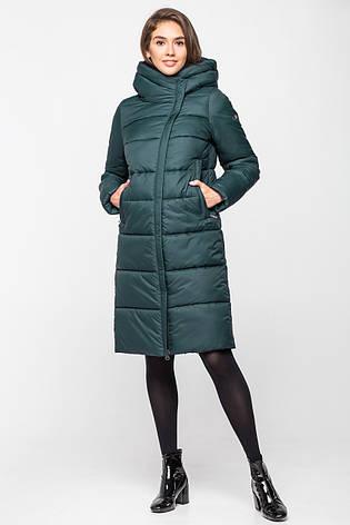 Стеганная теплая зимняя женская курточка KTL-260 - темно-изумрудная (#597), фото 2