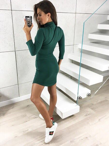 Платье MIXMI. Цвет зелёная бутылка. - Интернет-магазин женской одежды «Модный  мир 3933f0b2358