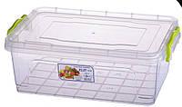 Контейнер пищевой пластиковый плоский Elit №4 4 л