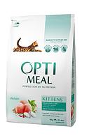 Optimeal сухой корм для котят c курицей 4 кг