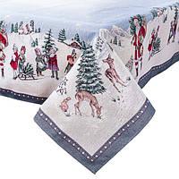 Новогодние скатерти, салфетки, дорожки, наволки из гобелена