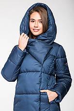 Зимняя женская курточка KTL-306 из новой коллекции 2018-2019 - синяя (#540), фото 3
