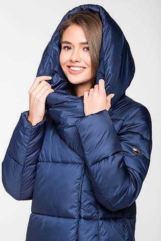 Зимняя женская курточка KTL-306 из новой коллекции 2018-2019 - темно-синяя (#549), фото 2