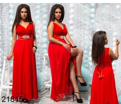 a6ba568b457 Красное вечернее платье с шифоном 821845 купить недорого Украина ...