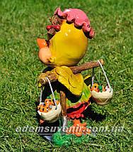 Садовая фигура Цыпа с коромыслом, фото 3