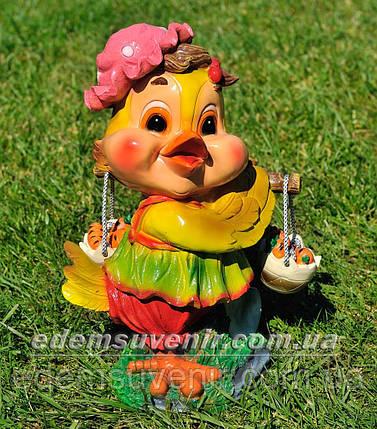Садовая фигура Цыпа с коромыслом, фото 2