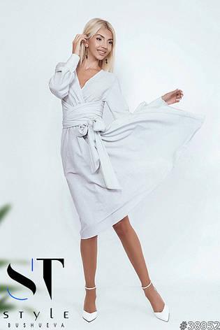 Незабутня вечірня сукня міді білий розмір універсальний, фото 2