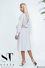 Незабутня вечірня сукня міді білий розмір універсальний, фото 3