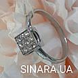 Золотое помолвочное кольцо с бриллиантами - Кольцо из белого золота с бриллиантами 16.5 р., фото 3