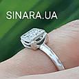 Золотое помолвочное кольцо с бриллиантами - Кольцо из белого золота с бриллиантами 16.5 р., фото 4