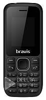 Мобильный телефон Bravis C183 Rife Dual Sim экран 128х160, 32 МБ, Bluetooth, micro-SD, 600 мАч, 2хSIM, пластик, черный