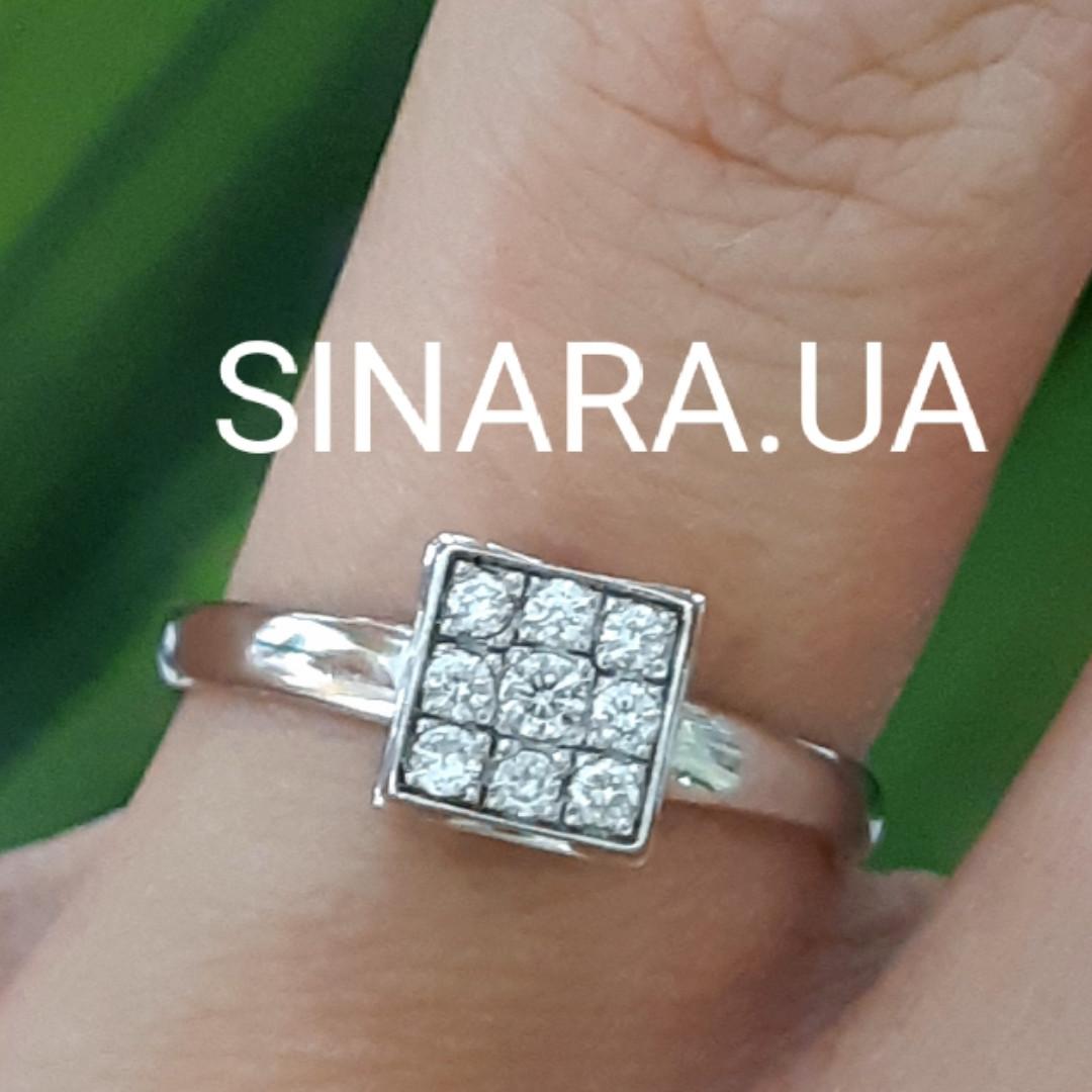 Золотое помолвочное кольцо с бриллиантами - Кольцо из белого золота с бриллиантами 16.5 р.
