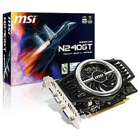 Видеокарта MSI PCI-Ex GeForce GT 240 1024MB GDDR3 (128bit) (550/1580) (DVI, VGA, HDMI) (N240GT-MD1G), фото 1