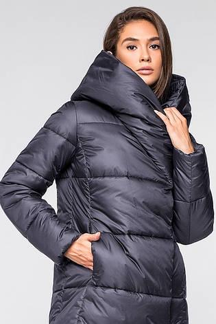 Женская зимняя куртка одеяло KTL-316 из новой коллекции 2018-2019 графитовая (#596), фото 2