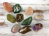 Руна Тейваз, Руна из камня 1 шт. 2*4 см., фото 3