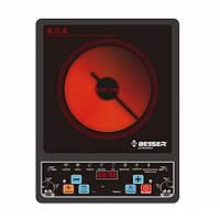 Электроплита инфракрасная Besser 10248, стеклокерамическая, матовая, мощность 2000W, размер 28*36*5.5, кухонная плита, плита переносная