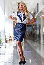 Женская юбка из экокожи с карманами (2307-2293 svt), фото 2