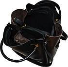 Женская черная с бордовыми вставками сумка с клачем Michael Kors (24*28*14), фото 5