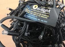 Светодиодная наружная гирлянда DELUX STRING 100LED 10m 20flash(черный провод,красный цвет диода), фото 2