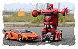 Игрушка машинка трансформер робот на пульте управления автобот orange, фото 4