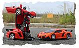 Іграшка машинка трансформер робот на пульті управління автобот orange, фото 5