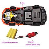 Іграшка машинка трансформер робот на пульті управління автобот orange, фото 3