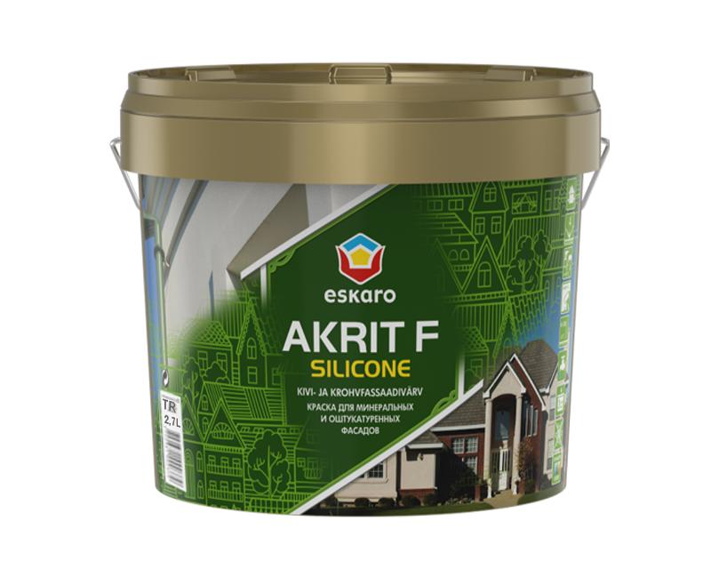 Краска силиконизированная ESKARO AKRIT F SILICONE фасадная база TR 2,7л