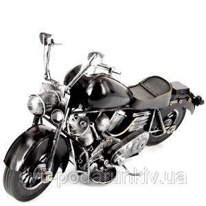 Модель мотоцикла черная - фото