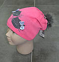 Детская зимняя шапка Мяу! розовая (AJS, Польша), фото 2