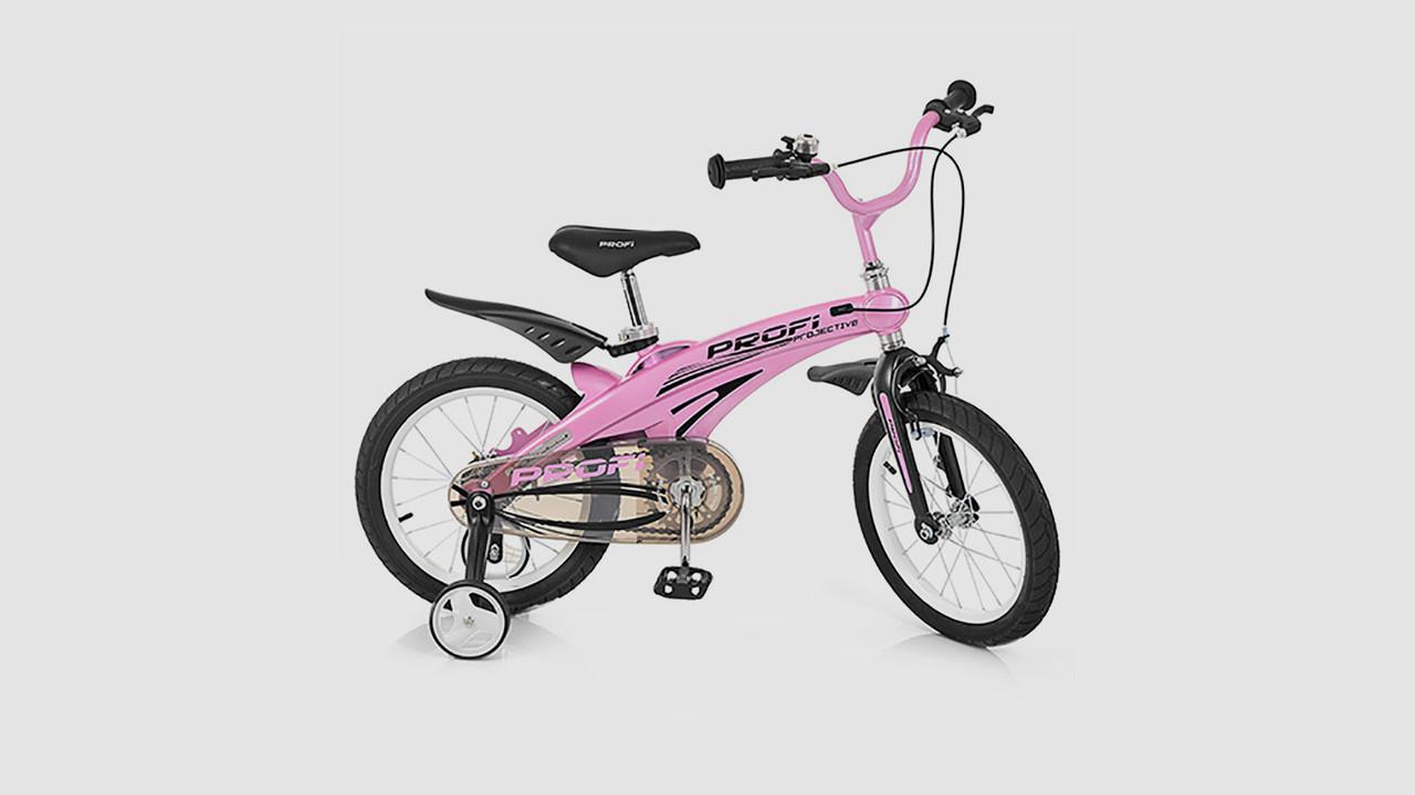 Велосипед детский PROFI PROJECTIVE. 16 дюймовые колеса. Розового цвета