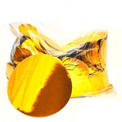 Конфетти кружочки золото 23 мм , вес 25 гр.