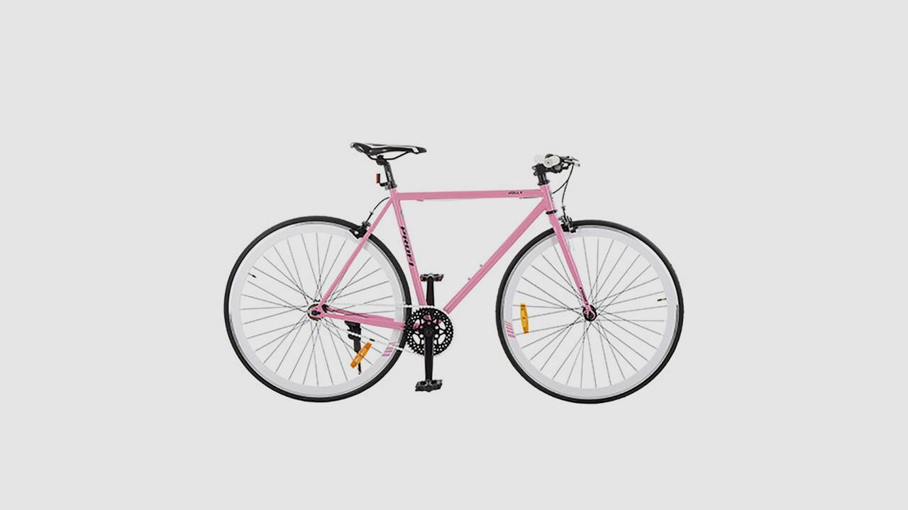 Велосипед PROFI JOLLY. 28 дюймовые колеса. рама 53 см. Розового цвета