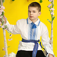 Вышиванка для мальчика (ручная робота, домотканная ткань, 1-12 лет), фото 1