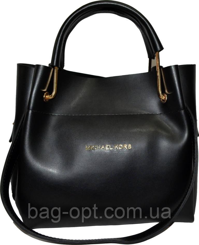 Женская черная сумка с клачем Michael Kors (24*28*14)