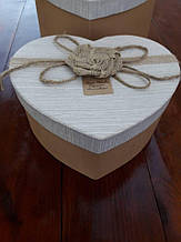 Коробка -серце(мотузка,льон)