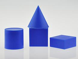 Моделі геометричних фігур, набір 4 фігури, матеріал-пластик