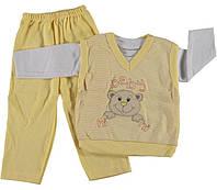 Детская одежда оптом. Костюмчик детский тройка р.12 мес.
