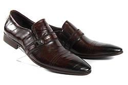 Стильные мужские классические кожаные туфли LOUIS ALBERTI 582-05-505  39  коричневый