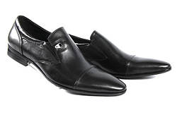 Стильные мужские классические кожаные туфли LOUIS ALBERTI 582-07-997  45  черный