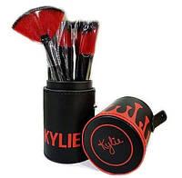 Набор кистей для макияжа Kylie в тубусе 12 шт (KU03)