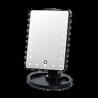 Зеркало с подсветкой для макияжа Led Mirror Черное, фото 1