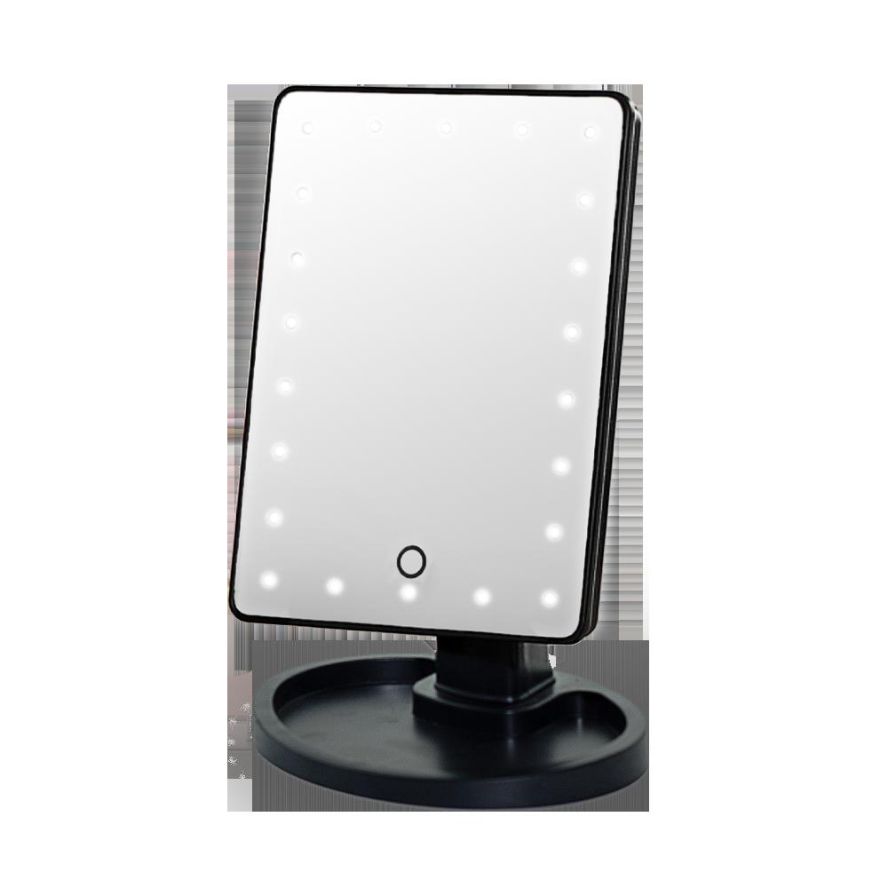 Зеркало с подсветкой для макияжа Led Mirror Черное