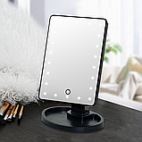 Зеркало с подсветкой для макияжа Led Mirror Черное, фото 2